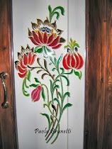 Porta interna con disegno in stile liberty