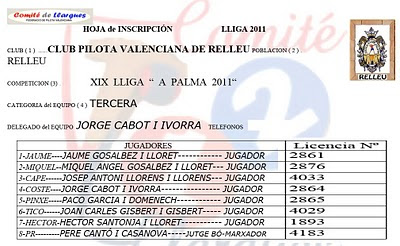 XVII-LLIGA PROVINCIAL D'ALACANT