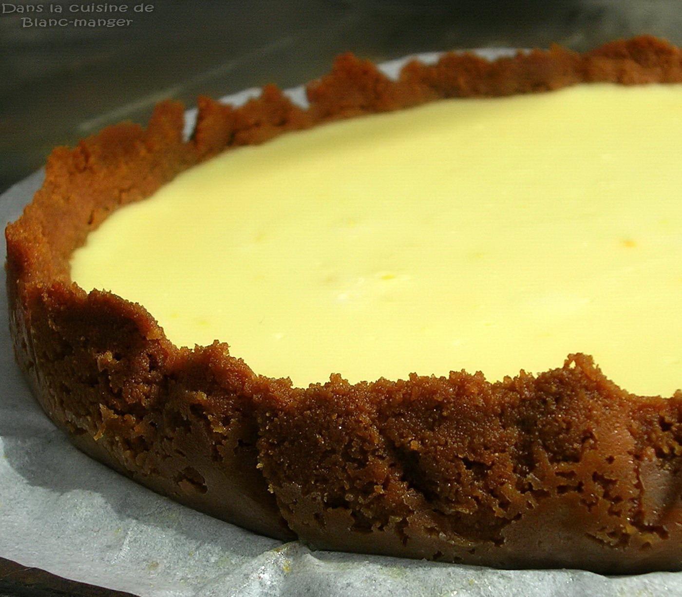 Dans la cuisine de blanc manger tarte au citron la plus facile au monde - Fond de tarte biscuit ...