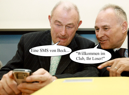 Ratz und Rübe alias Huber, CSU u. Beckstein, CSU