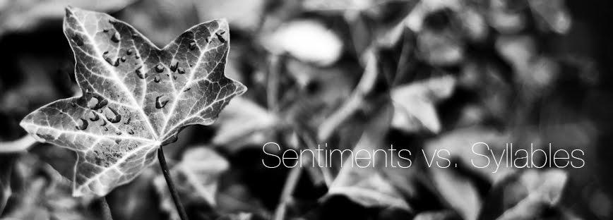 Sentiments vs. Syllables