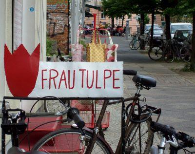 Frau Tulpe Fahrradständer