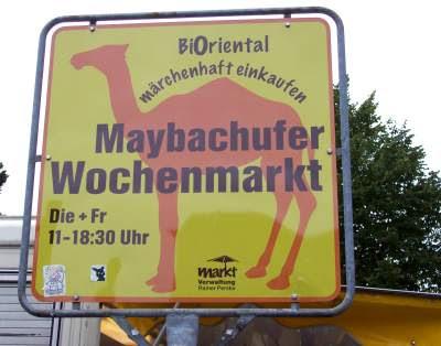 Schild Markt Maybachufer