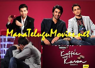 Ranbir & Imran kissing in Koffee with Karan-3 -E 2