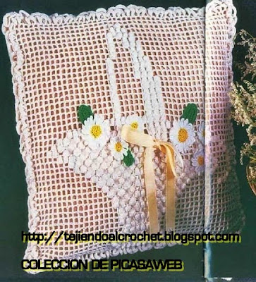 TEJIDO CROCHET GANCHILLO  ALMOHADONES AL CROCHET