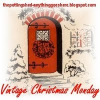next few mondays until christmas we are celebrating our decorating for christmas with vintage christmas decor be sure and go by