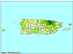 Map of Persons per Square Mile (Puerto Rico by Municipio)