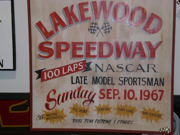 Lakewood Speedway Sign