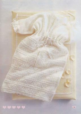 схема вязания спального мешка для ребенка