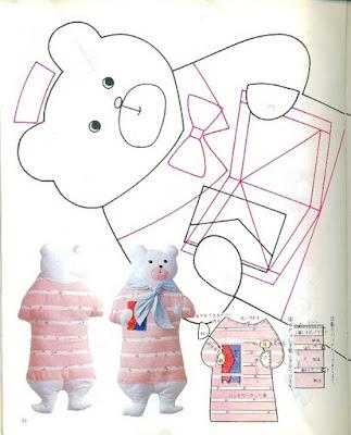 выкройка игрушки из японского журнала