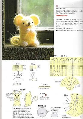 схема вязания мыши