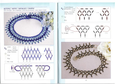 схема плетения ожерелья из стекляруса