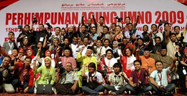 perhimpunan agung umno 2009, photoshoot with media