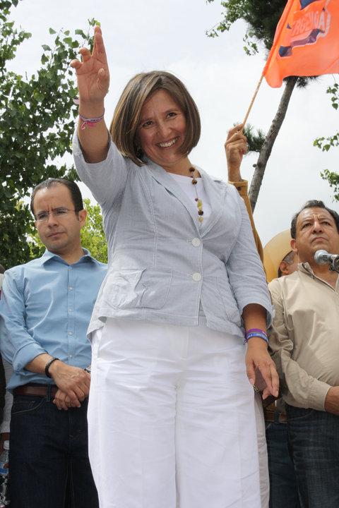 Xóchitl Gálvez, durante mega mitin de 11 de julio. Imagen: Desde Abajo