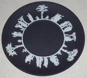Black Basalt Jasperware Plate