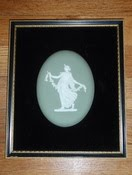 White On Green Wedgwood Wall Plaque