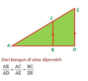 Rumus Rumus Matematika Smp Kelas 9 Rumus Kesebangunan