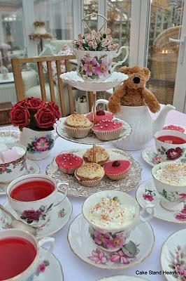 pink vintage tea set