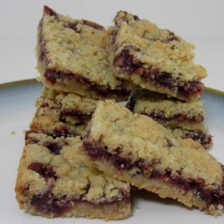 Linzer Cookies, Raspberry Linzer Bars