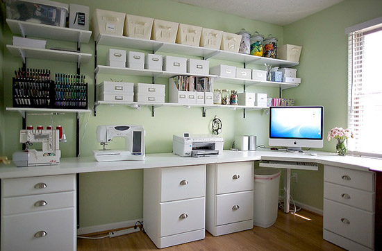 Dry as toast beautiful work spaces for Office craft room design ideas