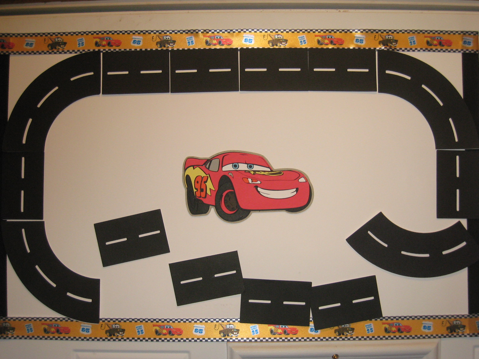 This is a graphic of Wild Race Track Printable