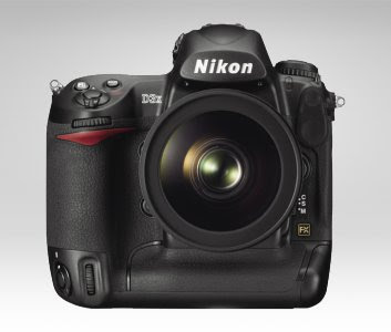 Nikon D3X DSLR with lens