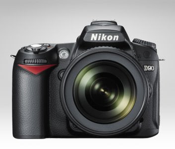 Nikon D90 DSLR with lens