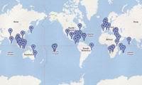 Recherche de mes voyages sur la carte Google Maps