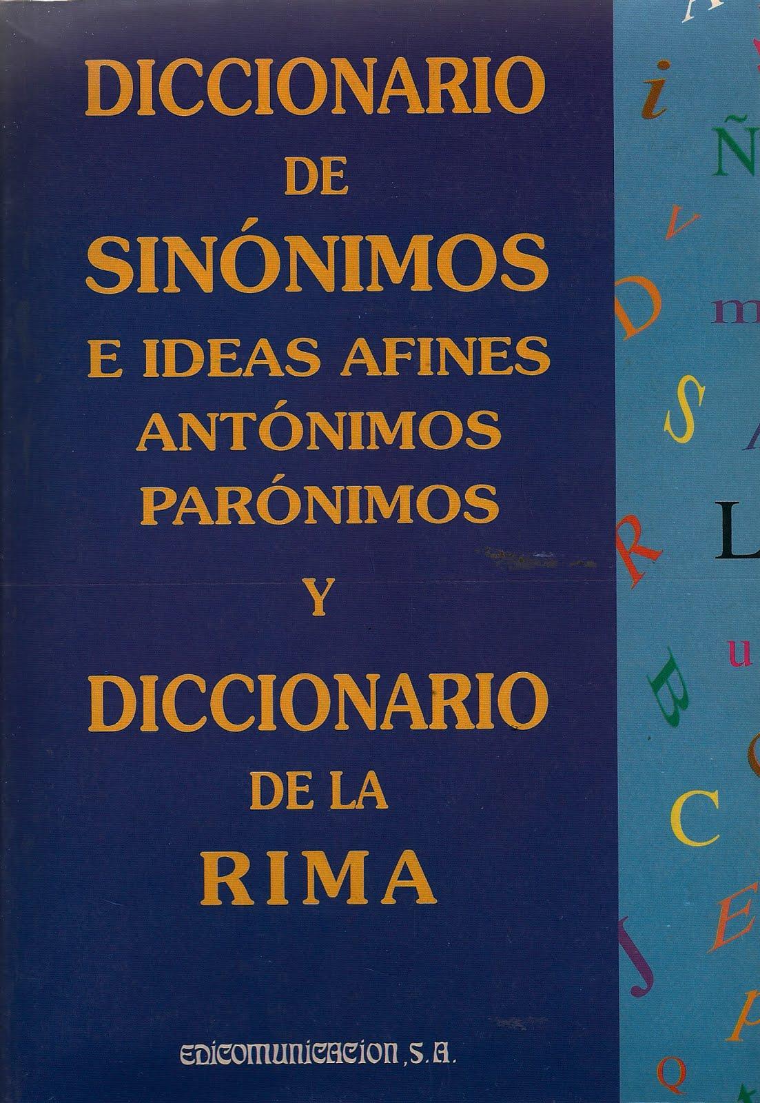 Diccionario De Sinonimos Antonimos Y Paronimos ... - photo#16