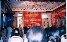 Mr. Bishnu in interaction program of avoiding plastig bag with Minister