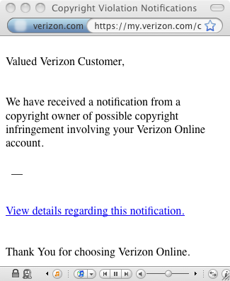 Valued Verizon Customer,