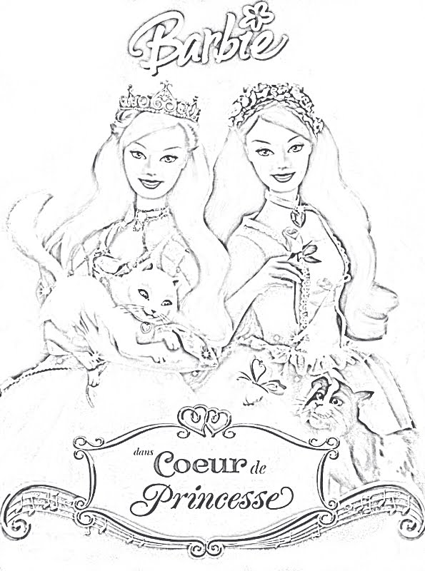 Jeux de coloriage barbie princesse liberate - Barbie princesse coloriage ...