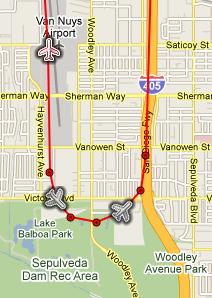 Mark's Live Flight Tracker (Google Map)