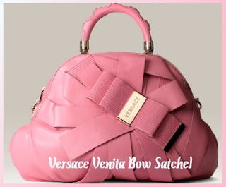 The House of Designer Handbags and Shoes: Versace Venita Bow Satchel :  versace venita bow satchel handbag reviews designer handbags womens handbags spring summer handbags pink handbags