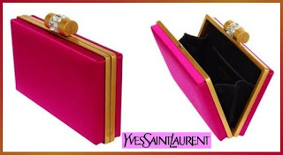 Designer's House: Cheer Up with this Elegance Yves Saint Laurent Clutch with Crystal Clasp :  saint elegance crystal house
