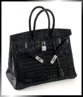 Designer's House: Hermes Diamond Crocodile Birkin Handbag