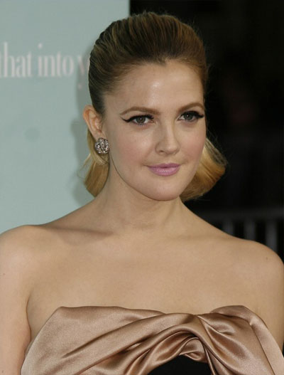Drew Barrymore Slick Ponytail Hairstyle 2009 Spring