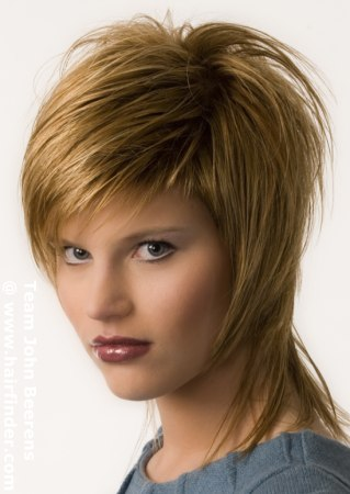 short female hairstyles. short layered hairstyle older