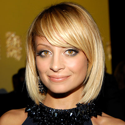 side swept bangs hairstyle. Nichole Richee Long Bob Hairstyles