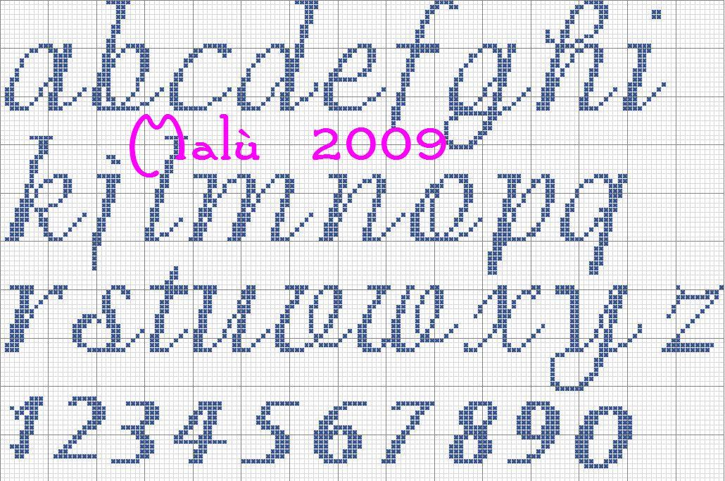 Ricerche correlate a alfabeto punto croce corsivo maiuscolo e ...
