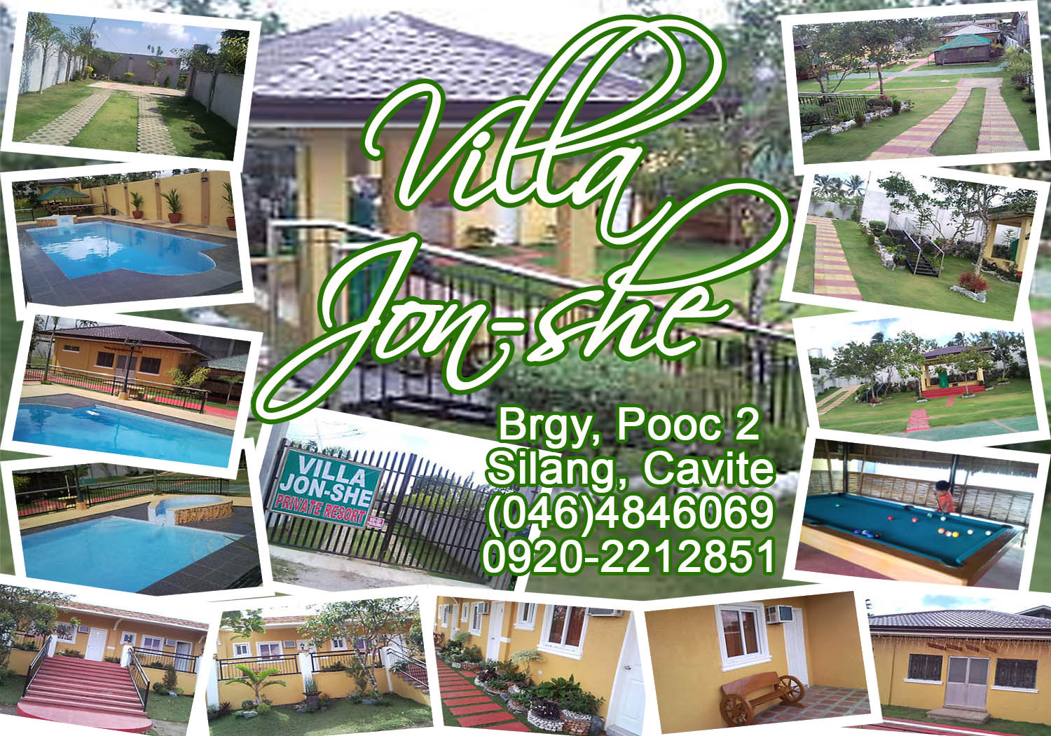 Villa jon she private resorts Private swimming pool for rent in cavite