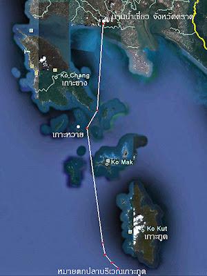 แผนที่หมู่เกาะช้าง จังหวัดตราด (Koh Chang)