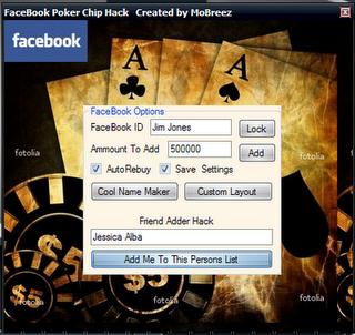 Cara Hack Poker Chip di FB orang lain