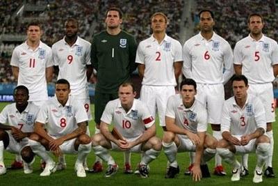 Profil Tim inggris Piala dunia 2010