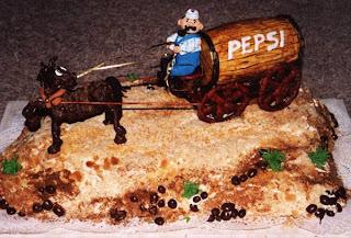 old pepsi transporter cake