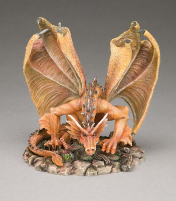 sculpture dragon in mini scale
