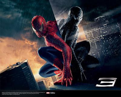 spiderman in black shadow