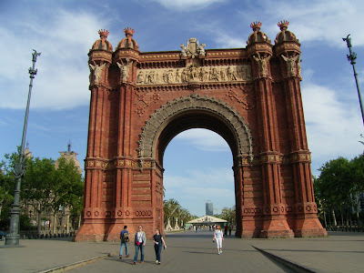 big gate in barcelona, spain