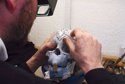 touching up the skull