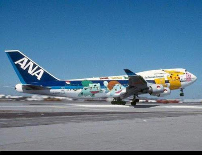 drawing on aircraft surface